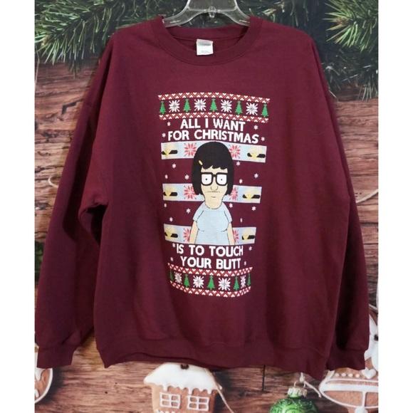 4161c358 Gildan Sweaters | Tina Bobs Burgers Christmas Sweatshirt Xl | Poshmark